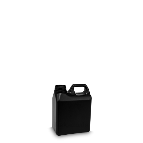 1 Liter Kanisterflasche - schwarz - DIN 40 Gewinde