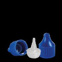 Verschluss Dosierspitze - blau - DIN 18 Gewinde