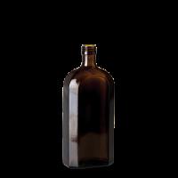 500 ml Meplatflasche - Braunglas - PP 28 Gewinde